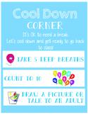 Cool Down Corner Visual Checklist