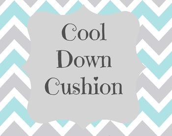Cool Down Cushion sign