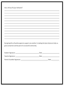 Cool Down Form Freebie!! {To Support Behavior Management}