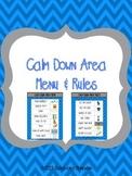 Calm Down Area Menu & Rules