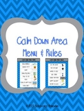 Calm Down Area Menu & Rules