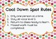 Cool Down Spot Rules and Think Sheet