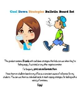 Cool Down Strategies Bulletin Board Set