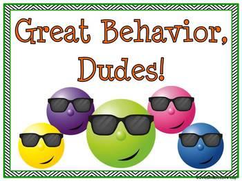 Cool Dudes! Behavior Clip Chart