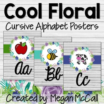 Cool Floral Cursive Alphabet Posters (with pictures)