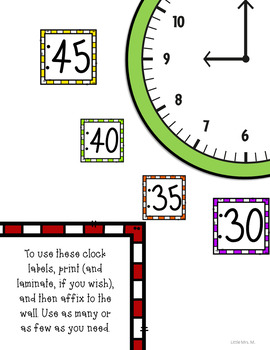 Cool Frames Clock Decor FREEBIE: For Your Classroom Clock Display!