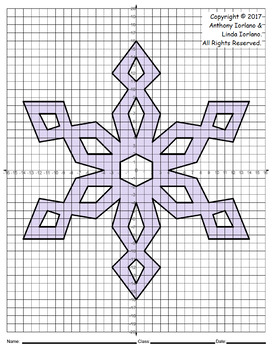 Snowflake Mystery Picture - 4 Quadrants (Cool Geometry)