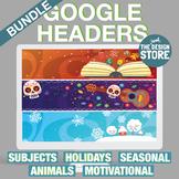 Cool Google Classroom Headers Bundle (Customizable - Dista