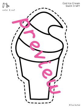 Cool Ice Cream Paper Craft