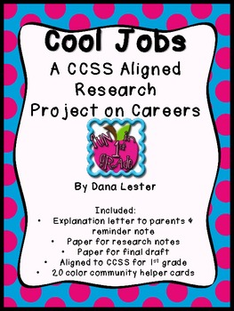 Cool Jobs Research Project {CCSS Aligned}