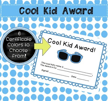 End of the Year Award Certificates