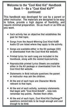 """Cool Kind Kid Handbook, Book 1:  Be a """"Cool Kind Kid"""""""