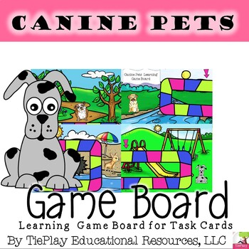 Cool Math Canines and Time to the Nearest Five Minutes Math Learning Game Board