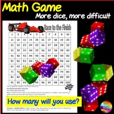 Cool Math Center Game Dice Game on 100 square Teach ADDITION and Strategy
