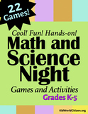 Cool Math & Science Night STEM Games and Activities ~ K-5 School Wide Event