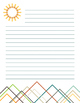 Cool Mountain Stationary with Line Variety