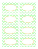 Cool Neutrals Mint Green and Camel Tan Chevron Classroom D