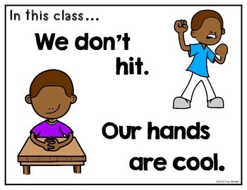 Cool, Not Cool? {Visual Behavior Posters & Task Cards}