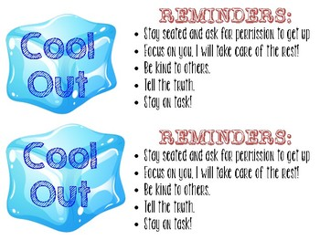 Cool Out and Reminder Cards