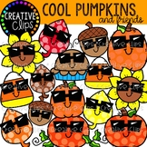 Cool Pumpkin Clipart and Friends {Fall Clipart}