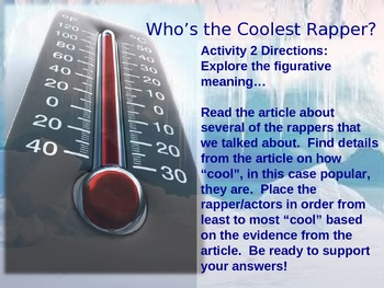 """Cool"" Rappers: Shades of Meaning and Reading Informational Text for Evidence"