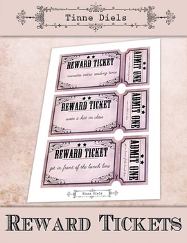 Cool Reward Tickets + Bonus detailed tutorial to add text with Picmonkey