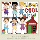 Cool School Kids Clip Art Graphics by Alice Smith