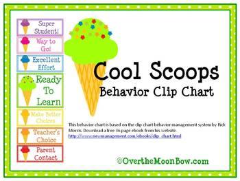 Cool Scoops Behavior Clip Chart