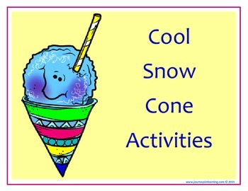 Cool Snow Cone Activities