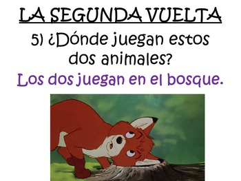 Cool Spanish Movie Scenes Electronic Game – The Fox and the Hound
