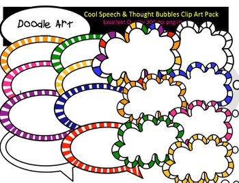Cool Speech & Thought Bubbles Clipart Pack