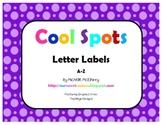 Cool Spots Letter Labels