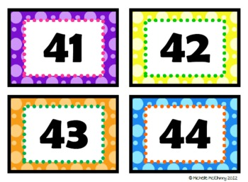 Cool Spots Number Labels 41-60