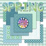 Cool Spring TPT Seller Digital Design Pack Papers and Frames