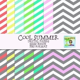 Cool Summer Digital Papers