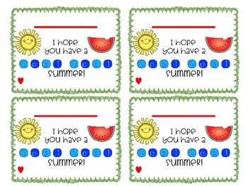 Cool Summer Gift Tags (editable!)