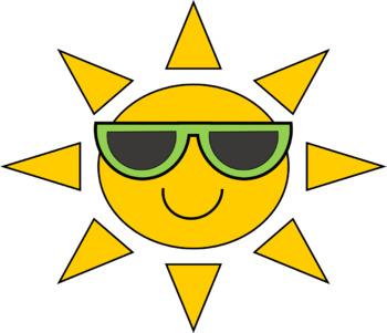 Cool Sun Clip Art FREEBIE