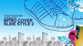 Cool Tools - Urban Blue Powerpoint Template Backgrounds