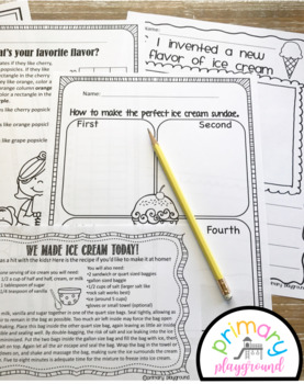 Cool Treats Activities No Prep Math and Literacy Pack