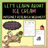 Ice Cream Treats Webquest Internet Scavenger Hunt Activity