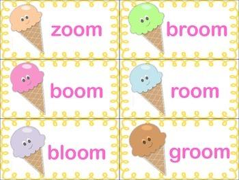 Cool Treats- Word Sort with Variant Vowels (-ool, -oon, -oom)