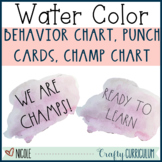 Cool Watercolor Rae Dunn Themed Behavior Chart, Punch Card
