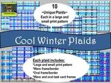 Cool Winter Plaids -- Backgrounds, Borders / Frames, Task Card Frames