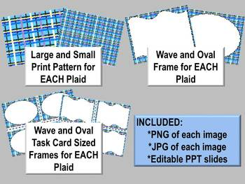 Cool Winter Plaids -- Backgrounds, Borders / Frames, Task Card Frames