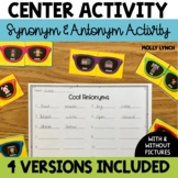 Cool Words - Synonym and Antonym Match Up Activity