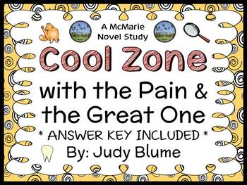 Cool Zone with the Pain & the Great One (Judy Blume) Novel Study  (24 pages)