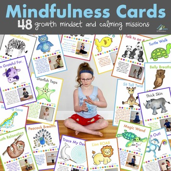 Mindfulness Cards (Growth Mindset & Calm Down Breaks)