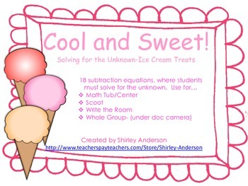 Cool and Sweet- Solving for the Unknown (Ice Cream Treats)