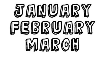 Cool days of the week and months labels