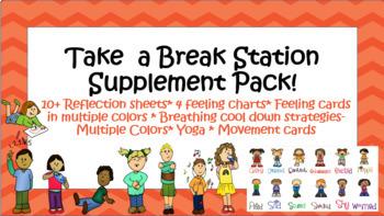 Cool down Corner Bonus Supplement Pack! Instant Resources! SEL